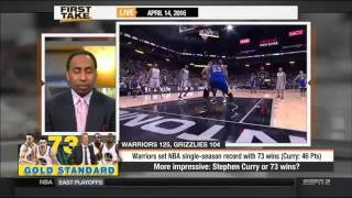 The Golden State Warriors Set NBA Record With 73-9 Season!  -  ESPN First Take
