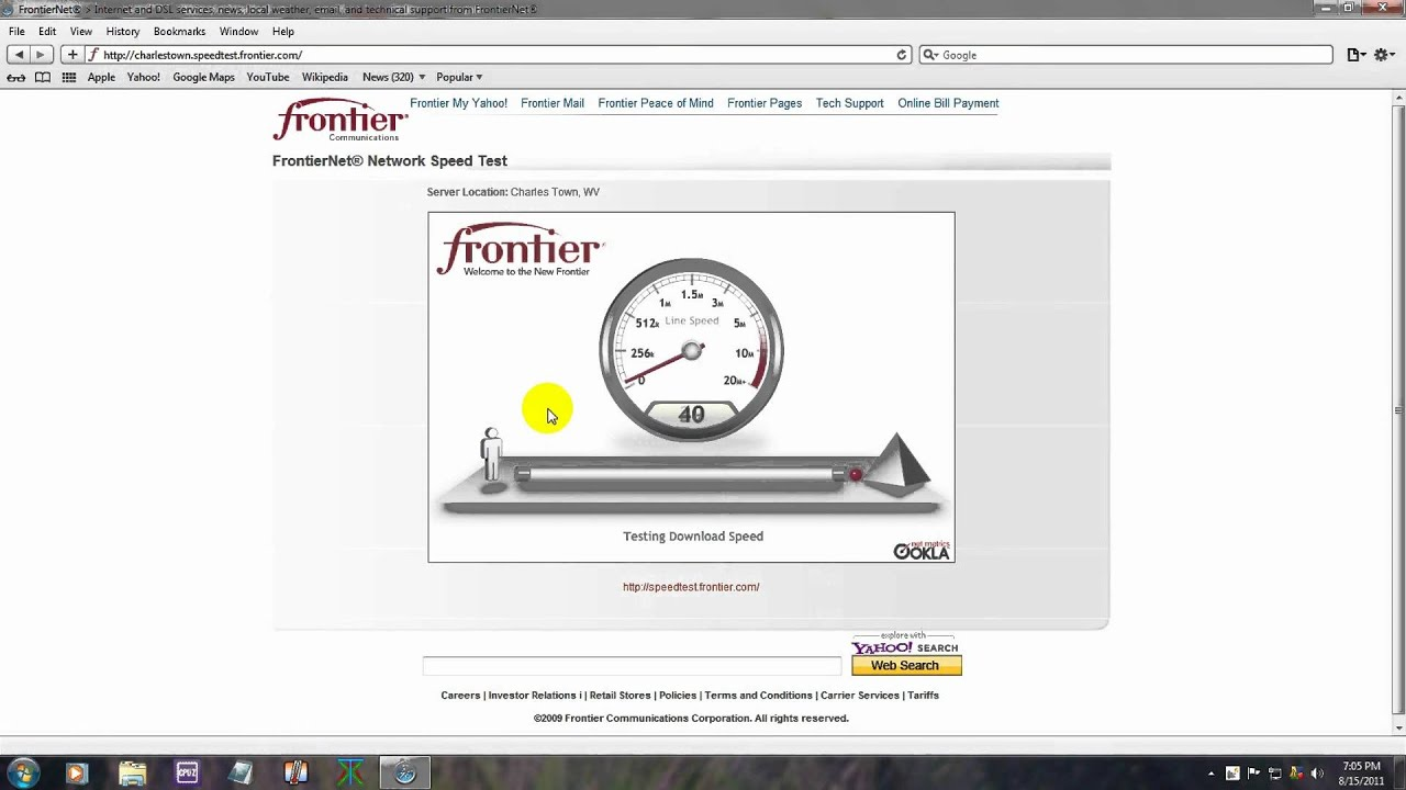 Frontier Speed Test >> Frontier Internet Speed Test Dont Get Frontier Internet Youtube