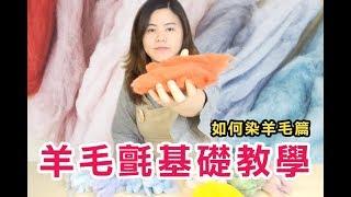羊毛氈基礎教學【如何染羊毛篇】| 愛麗絲手作坊羊毛フェルト How to dye Wool(手作、DIY)