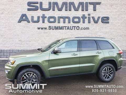 2020 Jeep Grand Cherokee 2020 Trailhawk Hemi New Color Green Metallic Pfq Walk Around Review Sold Youtube