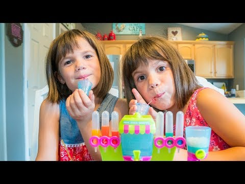 Elsa & Twins Bloopers! Soda Machine from TOY STORE Cherry Punch Orange FLAVORS | Twin Family Fun