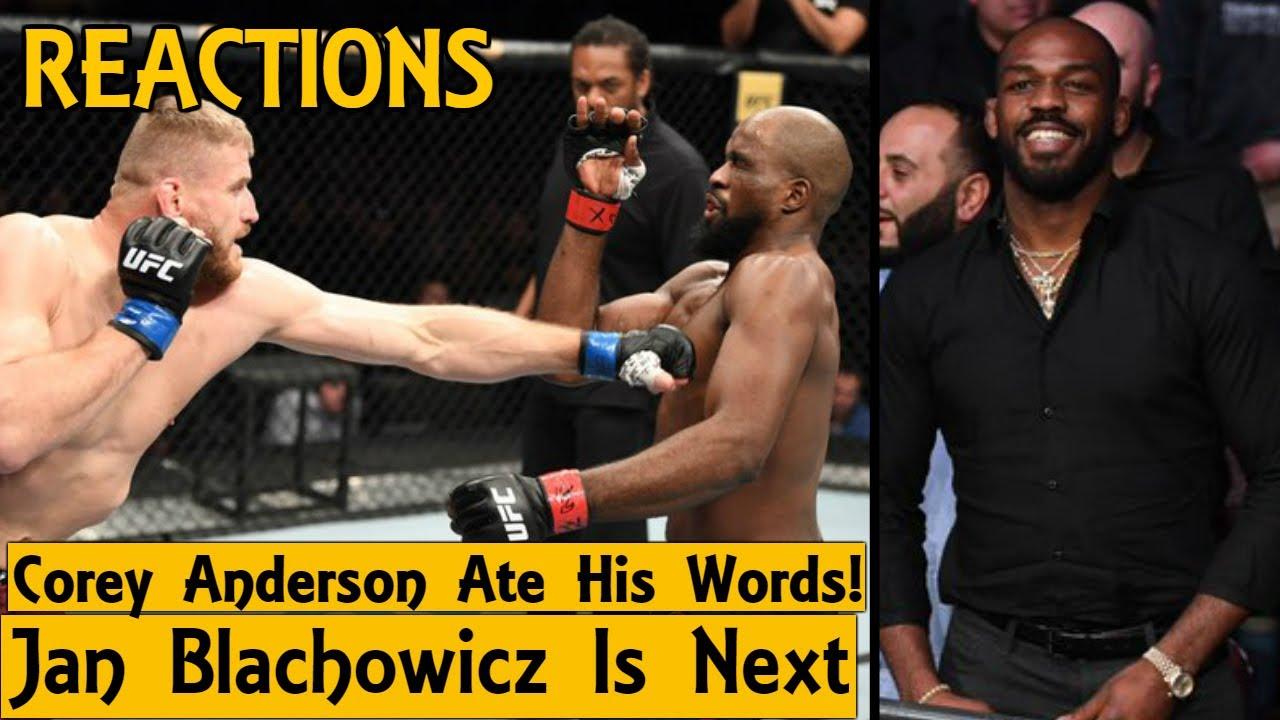 MMA Reacts to Jan Blachowicz KO Corey Anderson, Jon Jones Celebrates Corey's Loss - UFC Rio Rancho