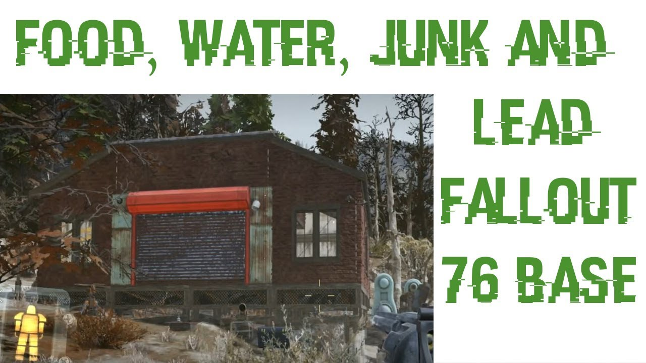 Epic Base In Fallout 76! Unlimited Water, Lead, Junk, And