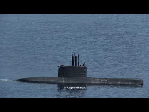 Hellenic Navy Submarine deployment in Kastellorizo island.