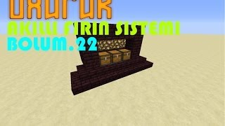 Minecraft Akıllı Fırın Sistemi