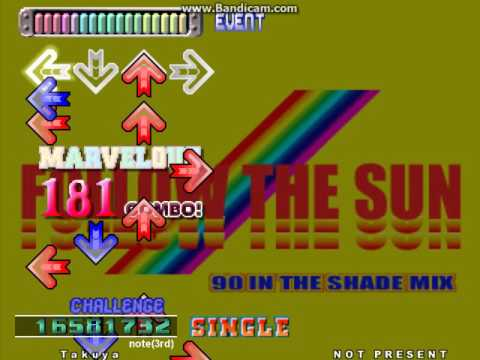 【Stepmania(DDR 3rdMIX)】FOLLOW THE SUN (90 IN THE SHADE MIX)【CHALLENGE】
