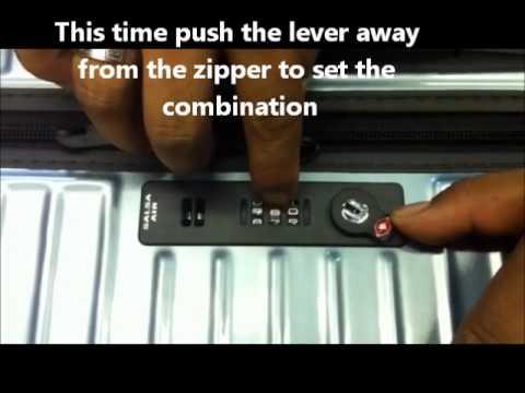Setting Rimowa Luggage Locks Youtube