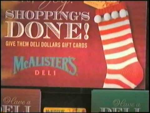 ADVENT CALENDAR 2010 Day 14 - McAlister's Deli gift card ad, 2006 ...