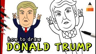 How To Draw Cartoon Donald Trump | Coloring Pages
