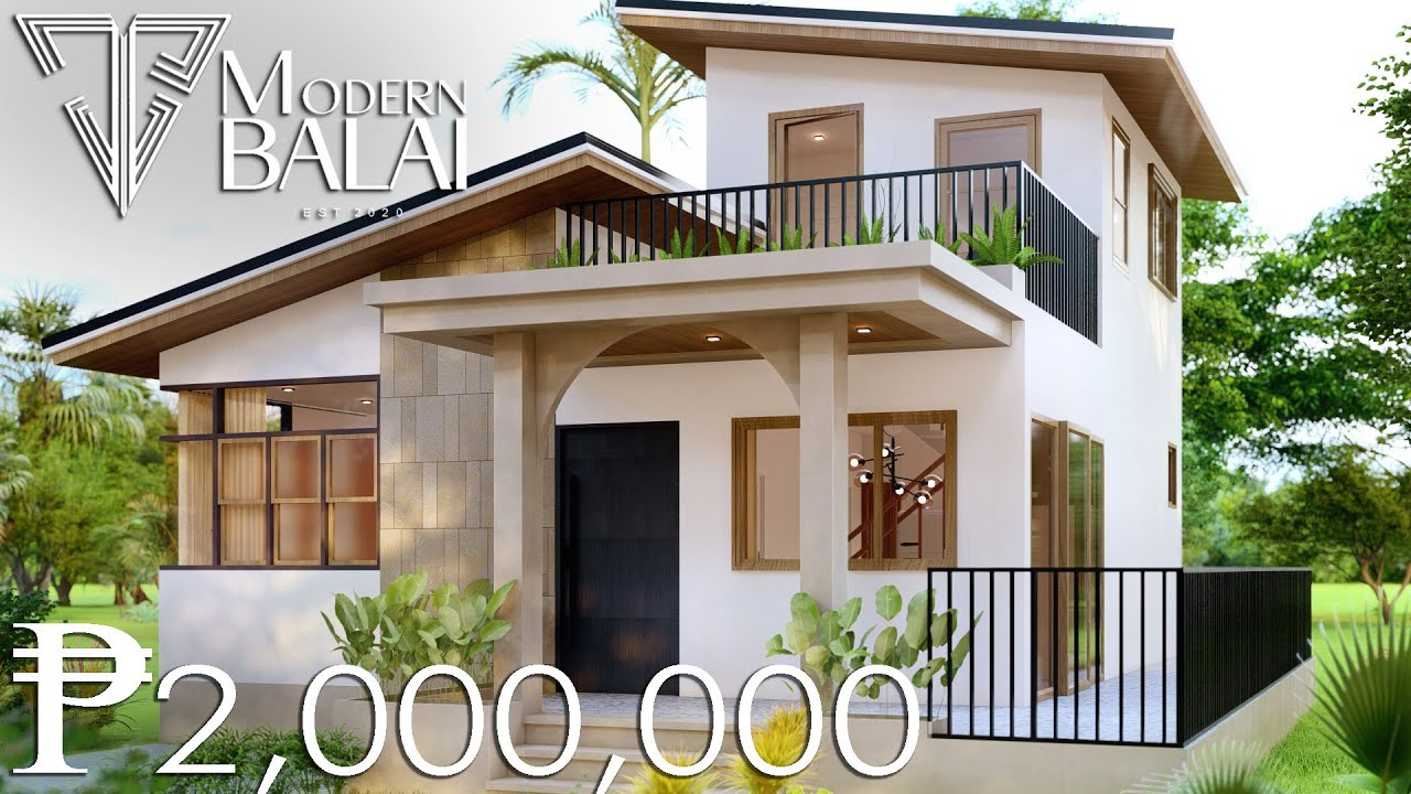 Download SMALL HOUSE DESIGN | MODERN HOUSE PLAN 3-BEDROOM 9.5 X 12.5 METERS