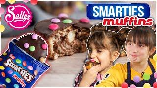 Smarties Muffins selbstgemacht mit den Kids / Marmorkuchen Muffins / Original trifft Sally