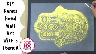 Hamsa Hand Tattoo For Your Walls With a Stencil