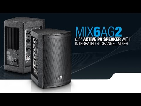"""LD Systems STINGER MIX 6 A G2 - 6.5"""" active PA Speaker with integrated 4-channel Mixer"""