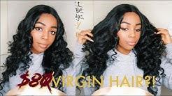 $80 VIRGIN HAIR + WAND CURLS | Aliba Natural Hair 1 Month Update (100% Unprocessed)