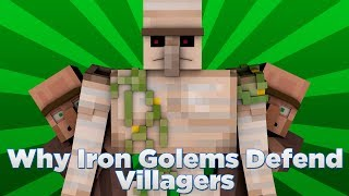 Why Iron Golems Defend Villagers (Minecraft)
