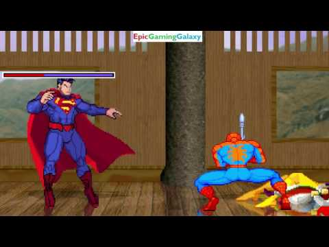 Superman And Spider-Man VS Genkai And Jean Grey In A MUGEN Match / Battle / Fight
