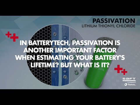 What is passivation in a primary lithium battery? motion design part 3