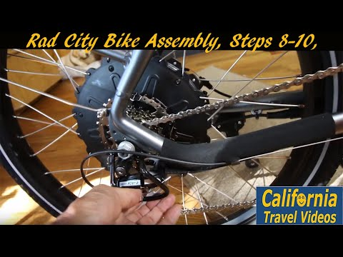 Rad City Bike Assembly, Steps 8-10, Spokes, Fender/headlight, Adjustments