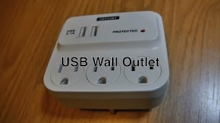 Dual Usb Wall Outlet Charger For Electrical Power Outlets & Apple Iphone / Ipad / Micro Usb Charger
