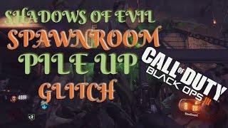 Cod BO3 Zombie Glitches - Shadow Of Evil Spawnroom Pileup Glitch!!! -Tutorial-