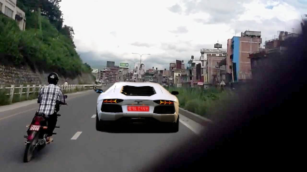 Viral Lamborghini In Nepal Spotted On Bhaktapur Highway Fhd Youtube