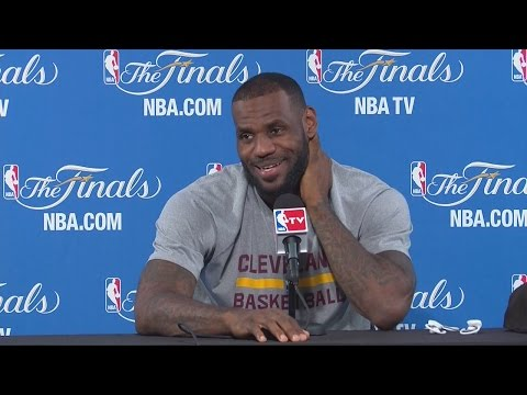 LeBron James jokes with Australian reporter