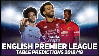PREMIER LEAGUE TABLE PREDICTIONS 2018/19! - LIVE!