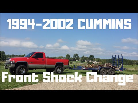 94-02 Dodge 2500 Cummins Front Shock Change.