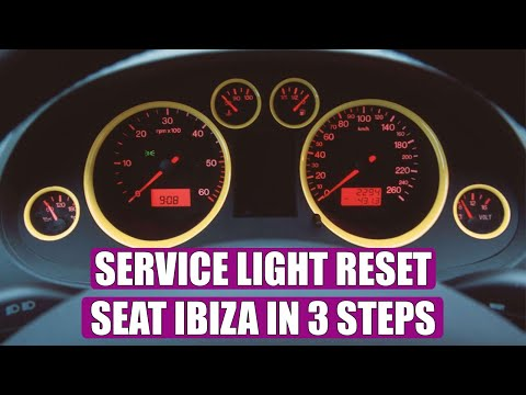 HOW TO reset service light / oil service Seat Ibiza (2002 - 2008) in 3 steps