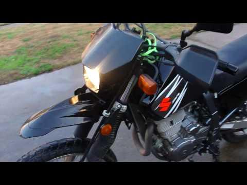 Suzuki Dr650, Black with a few mods.