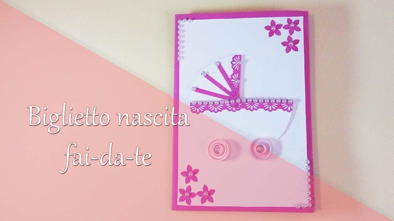Top DIY Biglietto nascita fai da te 🤱 Newborn card - YouTube UC31