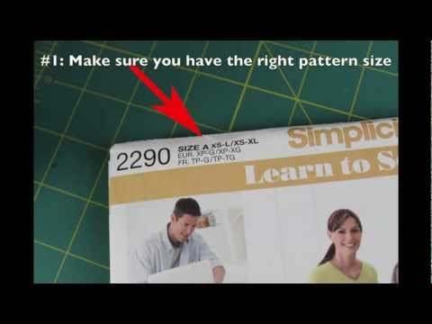 Beginner Sewing Series: Part 1- Simplicity Pattern 2290 & Giveaway