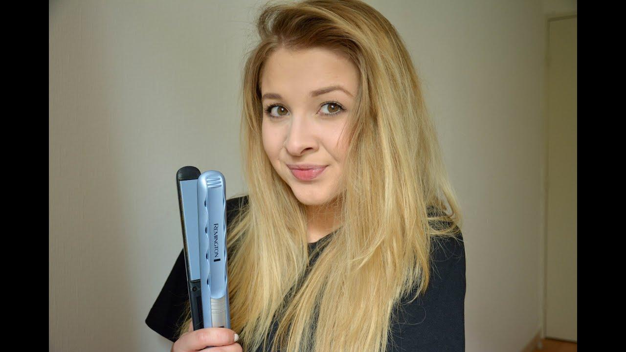 Brushing cheveux long volume