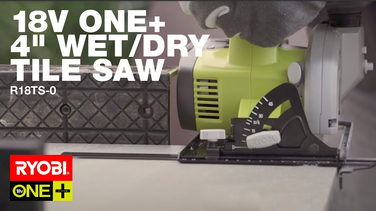 ryobi 18v one 105mm wet dry tile saw r18ts 0 precision cuts when it matters