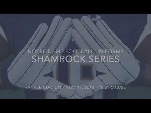 Notre Dame Football Yankee Stadium Uniforms Youtube