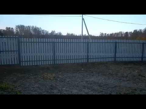 Установка забора из евроштакетника в к.п. Окский берег Тульской области - отзыв клиента