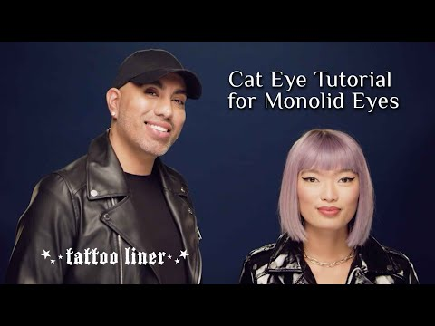How to Apply Eyeliner on a Monolid using Tattoo Liner | KVD Vegan Beauty