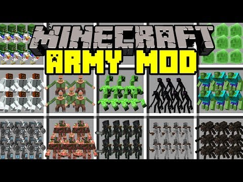 Minecraft ARMY MOD! | BUILD ARMIES TO FIGHT ZOMBIE APOCALYPSE & MORE! | Modded Mini-Game