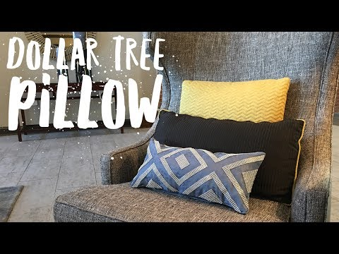 Dollar Tree Decorative Pillow Using Bling Wrap