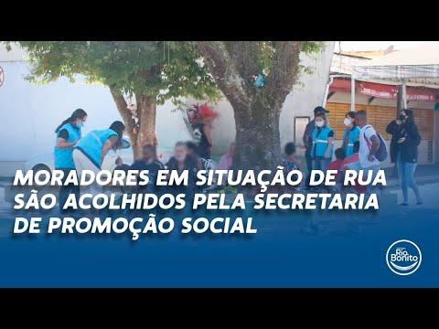 MORADORES EM SITUAÇÃO DE RUA SÃO ACOLHIDAS PELA SECRETARIA DE PROMOÇÃO SOCIAL