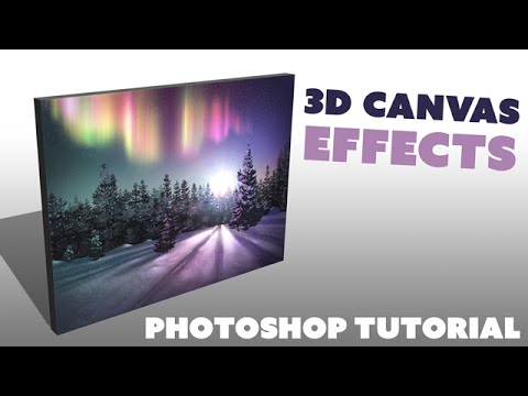3D Wrapped Canvas Effect (Photoshop Tutorial)