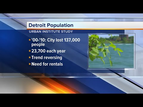Detroit expected to see first population increase in decades