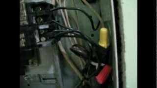 panel box circuit breaker test using a multimeter