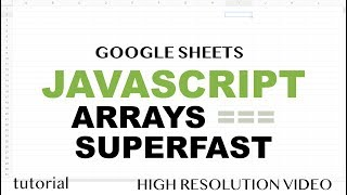 JavaScript Arrays - Programming Like a Grown Up - Google Sheets Apps Scripts - Array Methods Part 5