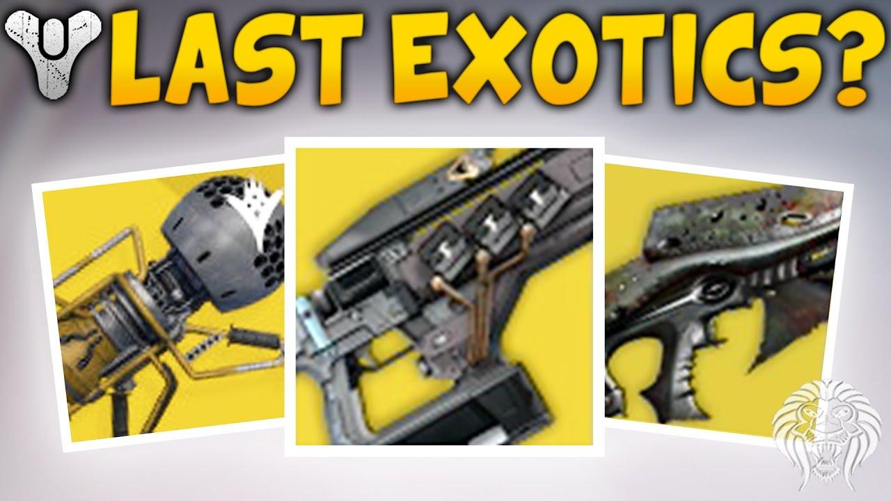 destiny: the last exotics? new daybreak strikes & remaining exotic