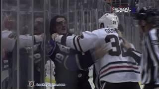 John Scott vs Kevin Westgarth Nov 27, 2010 - Chicago feed