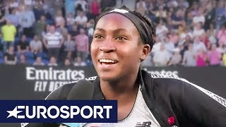 Coco Gauff: I've Got Homework Tomorrow! | On-Court Interview | Australian Open 2020 | Eurosport