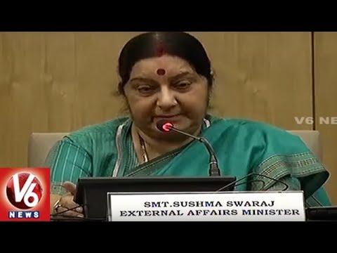 Sushma Swaraj Reviews On External Affairs Department | V6 News