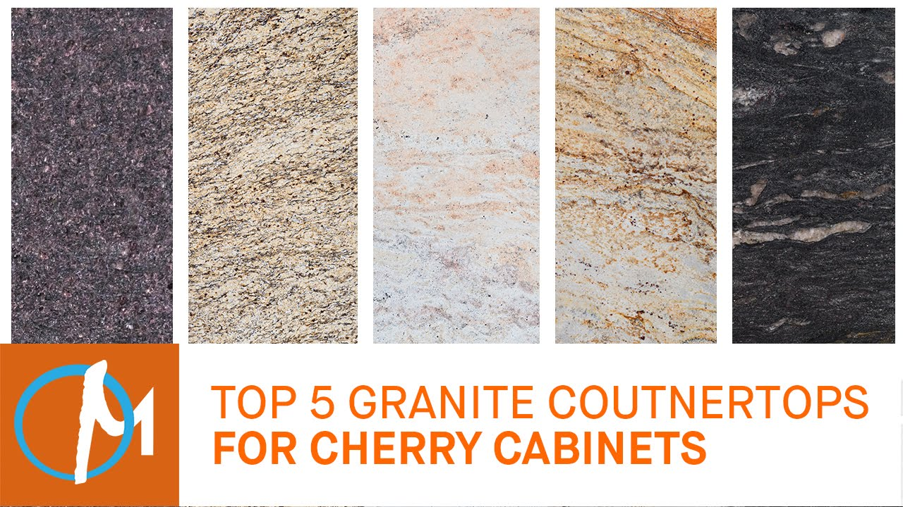 Top 5 Granites Countertops for Cherry Cabinets - YouTube