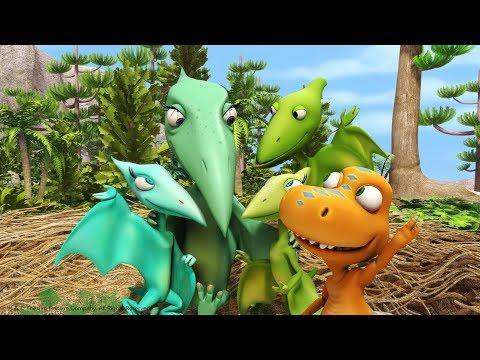 Поезд динозавров песня Тайни и Шайни Мультфильм для детей про динозавров